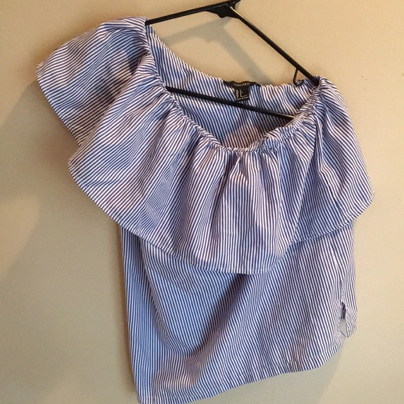 Forever 21 Tops - Blue and White Pinstriped Top